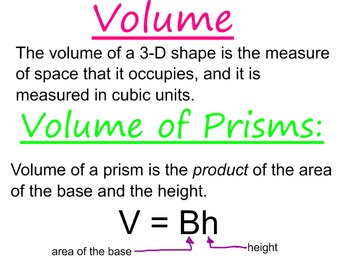 Volume: Prisms, Pyramids and Cylinders
