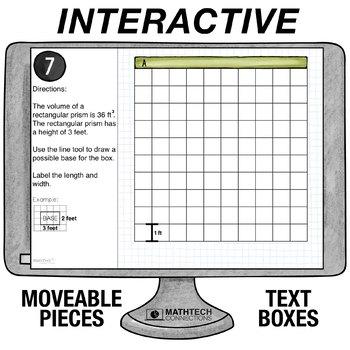 Volume Problem Solving - 5th Grade Digital Interactive Math Center