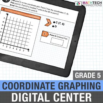 Coordinate Graphing - 5th Grade Digital Interactive Math Center