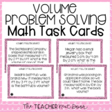 5th Grade Volume Problem Solving Task Cards  | Volume Word