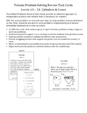 Volume Problem Solving Review Task Cards: Cones & Cylinders