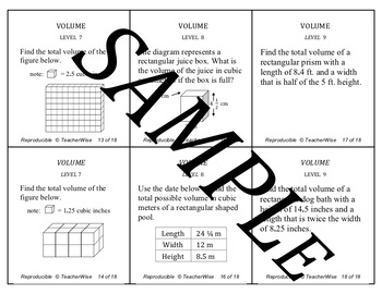 Volume Problem Solving Review Task Cards: Cubes & Rectangular Pyramids
