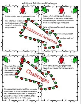 Volume Activity – Build a Gingerbread Village