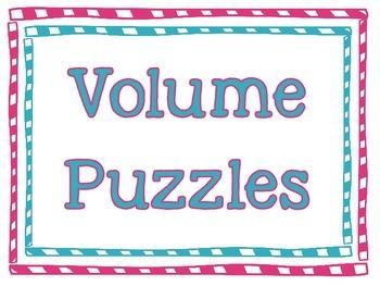 Volume Puzzles