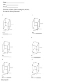 Volume - Rectangular Prisms BLANK