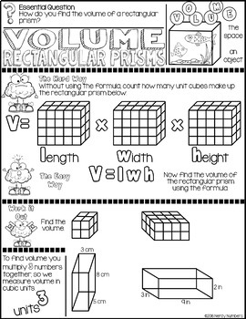 Volume Rectangular Prisms Discover & Doodle