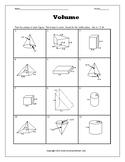 Volume Review Worksheet