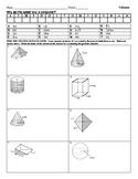 Volume Riddle Worksheet