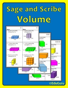 Volume Sage and Scribe Cooperative Learning Activity