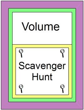 Volume - Scavenger Hunt (16 problems)