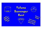 Volume Scavenger Hunt-Cylinders, Cones and Spheres