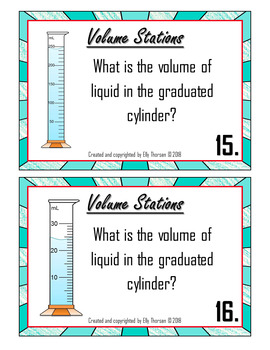 Volume Stations: A Science Measurement Activity