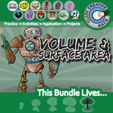 Volume & Surface Area Unit Bundle - Geometry - Distance Learning Compatible