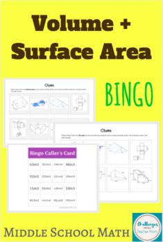 Volume + Surface Area BINGO | Middle School Math