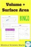 Volume + Surface Area BINGO   Middle School Math