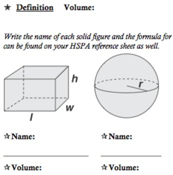 Volume & Surface Area Basic Activities & Problems