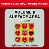 Volume & Surface Area (Cuboid) - Color By Number - Valentine's Day Emoji
