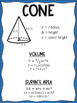 Volume and Surface Area Posters (Geometry Word Wall)
