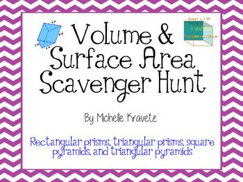 Volume & Surface Area Scavenger Hunt