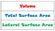 Volume & Surface Area Sort