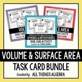 Volume and Surface Area Task Cards Bundle