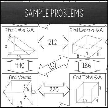 Volume Surface Area Of Prisms Maze By Amazing Mathematics Tpt
