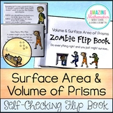 Volume & Surface Area of Prisms - Zombie Flip Book