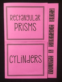 Volume & Surface Area of Rectangular Prisms & Cylinders (Foldable)