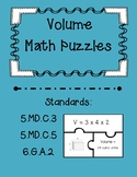Volume Task Card Puzzles