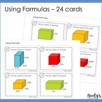 Volume of Rectangular Prisms Task Cards & Game Board