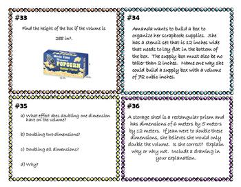 Volume Task Cards 5.MD.C