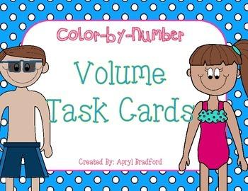 Volume Task Cards-Color by Number