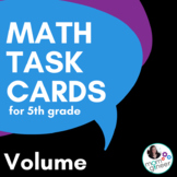 Volume Math Task Cards for 5th Grade