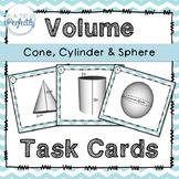 Volume Task Cards - Cone, Cylinder, Sphere (TEK 8.7)