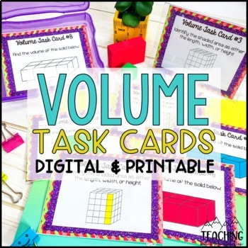 volume task cards by teaching with a mountain view tpt. Black Bedroom Furniture Sets. Home Design Ideas