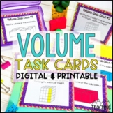 Volume Task Cards   Distance Learning   Google Classroom