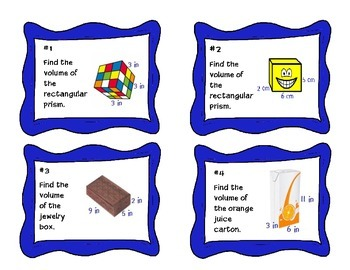 Task Cards- Volume and Additive Volume {MAFS.5.MD.3.5}