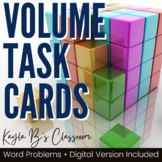 Volume Task Cards: Word Problems