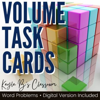 Volume Task Cards: Word Problems