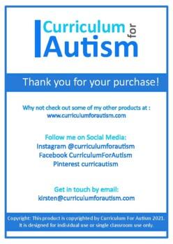 Volume of Rectangular Prisms, Autism, Special Education