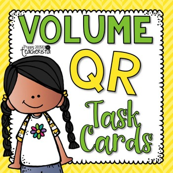 Volume Task Cards [with and without QR codes]