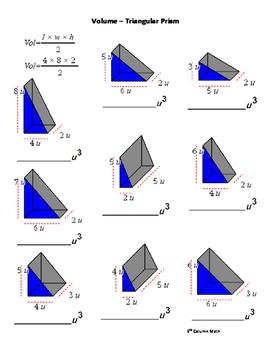 Volume – Triangular Prism