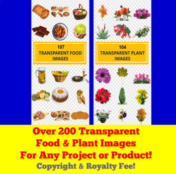 Volume Two 200+ Transparent Images for TPT Sellers / Teachers