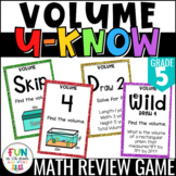 Volume Game for Math Centers or Stations: U-Know | Finding Volume