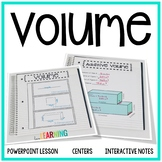 Volume Unit - Fifth Grade CC Aligned {Lessons, Interactive Notes, Assessment}
