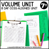 7th Grade Volume Unit with Cross Sections: 7.G.6