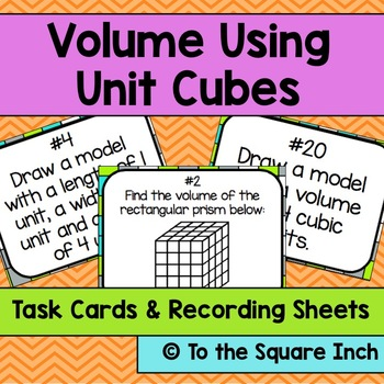 Volume Using Unit Cubes Task Cards