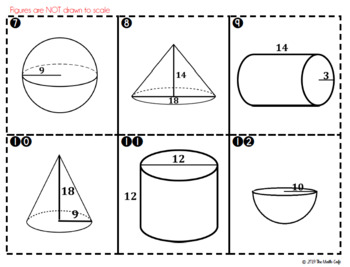 Volume War: Cylinders, Cones, Spheres Card Game for Partners