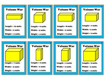 Volume War - Measuring Volume Math Center (Common Core Aligned)
