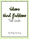 Volume Word Problem Cards/Game